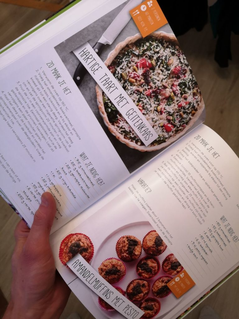 Op de foto zie je 1 van de recepten uit de Afslank receptenbijbel