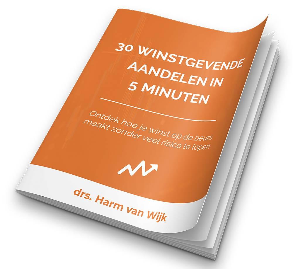 Op deze foto zie je het gratis E-book 'Hoe selecteer je 30 aandelen in 5 minuten'? van beleggen.com