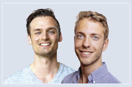 Op deze foto zie je Patrick Suiker en Derek Westra, de bedenkers van de Crypto Portfolio