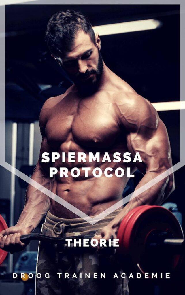 Op deze foto zie je de voorkant van Spiermassa Protocol Mannen theorie