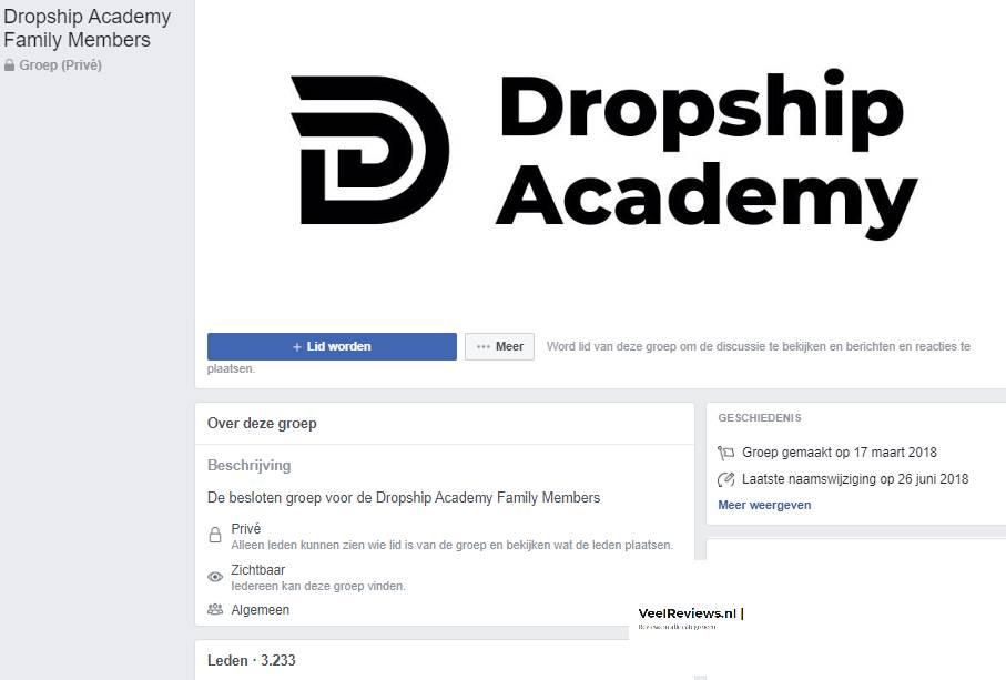 Op deze foto zie je de Dropship community van de Dropship Academy 4.0