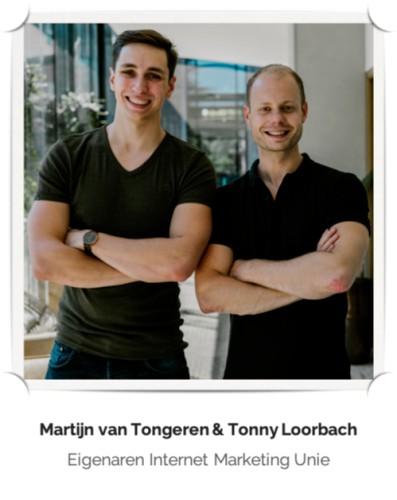 Op deze foto zie je Tonny Loorbach en Martijn van Tongeren, de oprichters van het bedrijf IMU