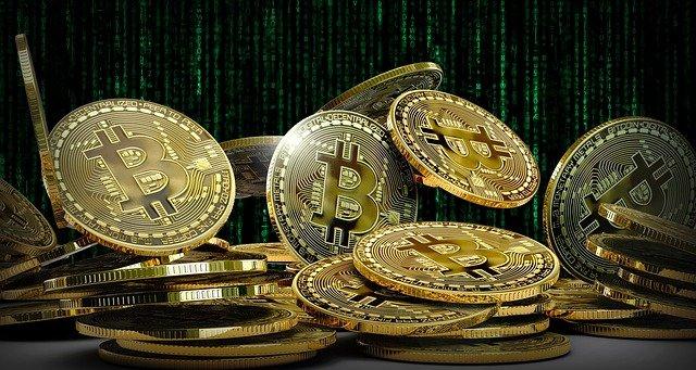 Op deze foto zien we een voorbeeld van de cryptomunt, namelijk de bitcoin
