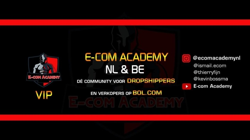 Op deze foto zie je de E-com Academy community