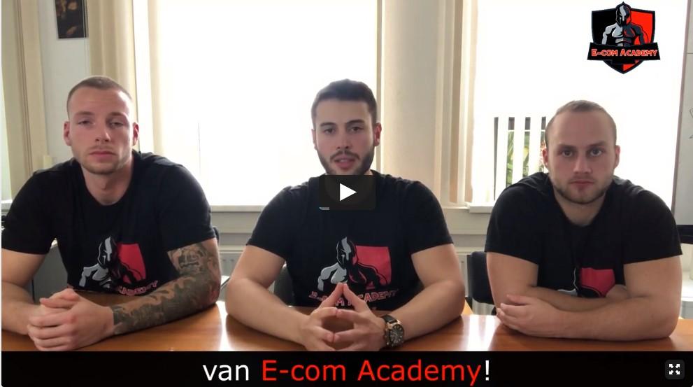 Op deze foto zie je de bedenkers van de E-com Academy cursus
