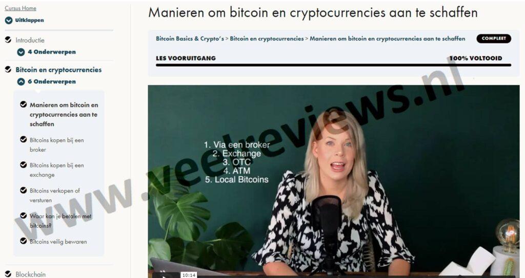 Op deze foto zien we hoofdstuk 2, video 5: Manieren om bitcoin en andere cryptocurrencies aan te schaffen uit de Bitcoin Basics & Crypto's cursus