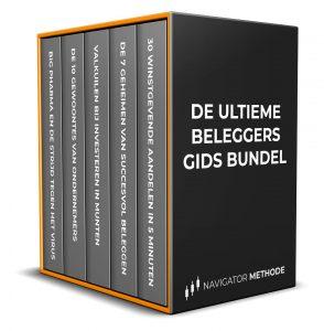 Op deze foto zie je het gratis E-book 'Ultieme beleggers Gids Bundel' van beleggen.com