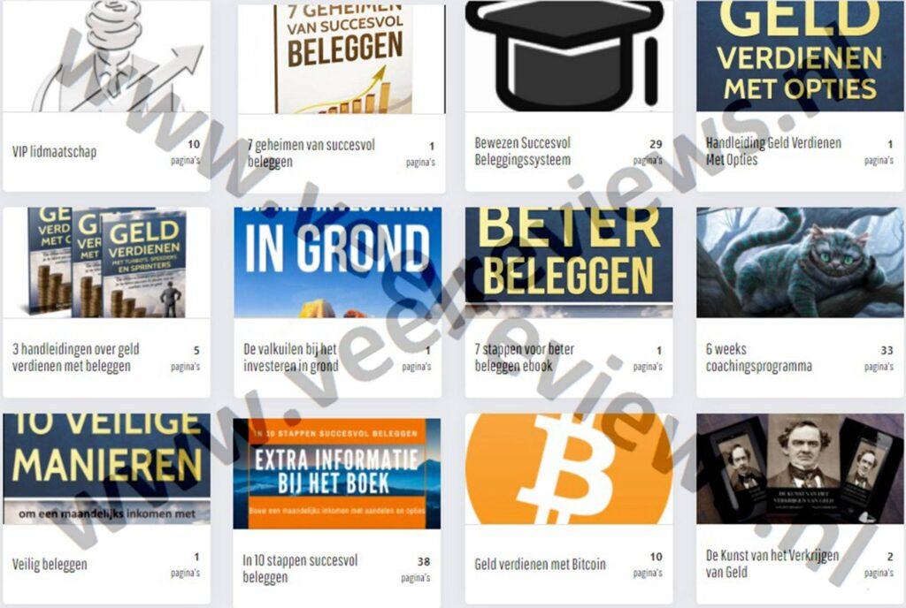 Op deze foto zie je de beleggen.com online omgeving