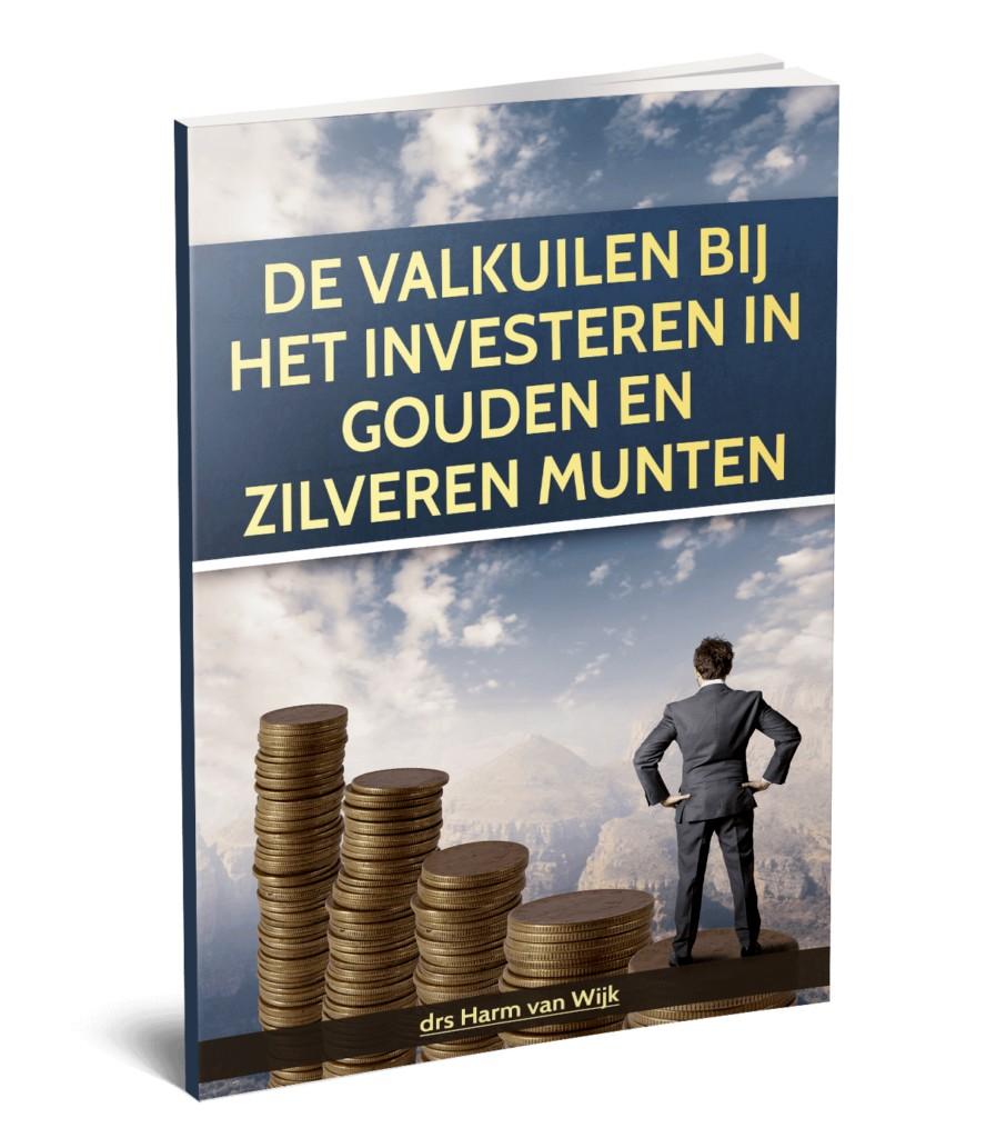Op deze foto zie je het gratis E-book 'Investeren in gouden en zilveren munten' van beleggen.com