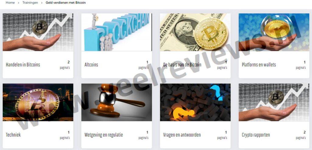 Op deze foto zie je het online programma X10 met crypto van beleggen.com