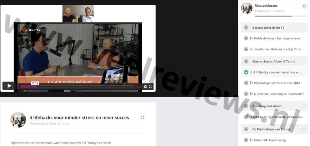 Op deze foto zie je Masterclasses van BreinTV