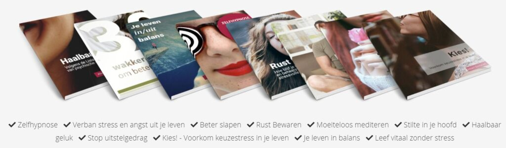 Op deze foto zie je verschillende gratis e-books van BreinTV