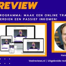 Maak een online training en verdien een passief inkomen! Review van Hans van der Klok + Ervaringen